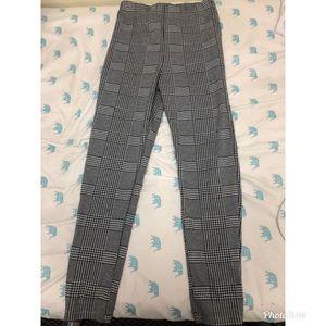 Glen Plaid Ponte Pants